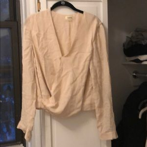 L'Agence pale pink blouse
